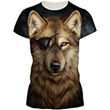 Jiayiqi Unisex Casual 3D Imprimir Manga Corta Camisetas Tops Para Parejas