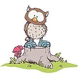 Bilderwelten Tatuaje de Pared NICI Oscar Owl on Tree Trunk,Adhesivo para Pared Vinilo Adhesivo Etiqueta de la Pared Pegatina de Pared, Tamaño: 120cm x 140cm