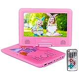 Lecteur DVD Portable, FENGJIDA 9 pouces DVD Lecteur Portable, lire directement les...