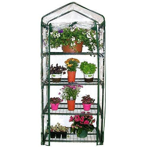 Serra con 4 piani da balcone per copertura orto piante e fiori 48x67h160