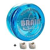 Yomega The Original Brain - Yoyo Professionale per Bambini e Principianti, Risposta reattiva Automatica Yo Yo Migliore per Fare acrobazie Incluso di Ben 2 Corde Extra (Blu)