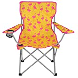 Folding Camping Festival Chair Funky Flamingo Portable Outdoor Seat With Bag