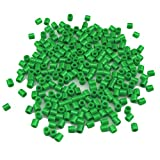 Kingnew 1000pcs Plástico variadas Cuentas para DIY Pulseras, Collares, Llavero y niño Joyas (Deep Green)