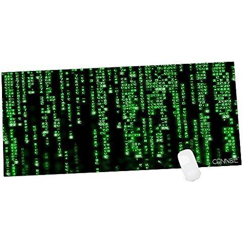 Cennbie XXL Alfombrilla de Gaming para Ratón - Dimensiones 900x400x1.8mm - Base de goma antideslizante