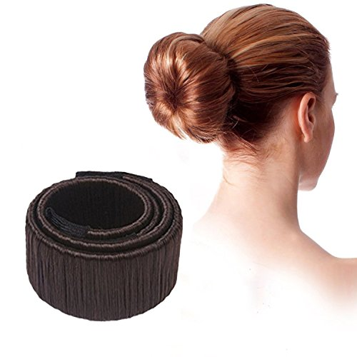 Demarkt ® Donut Hair Bun Mode Frisur Damen Fashion Haarstyling Tool Haarknoten Knotenringe DIY Disk-Haar,Dunklerkaffee