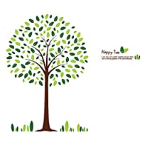 Stickieart - Lush Green Tree Wall Decal - Large - 60 X 90 Cm - Sta-185