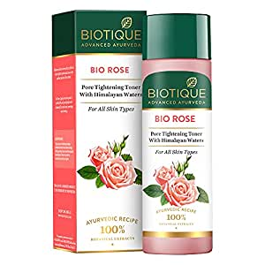 Biotique Bio Rose Pore Tightening Toner With Himalayan Water For All Skin Type 120 Ml