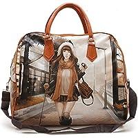 Buyerzone Digital Printed Travel Hobo Bag (Multi-color)
