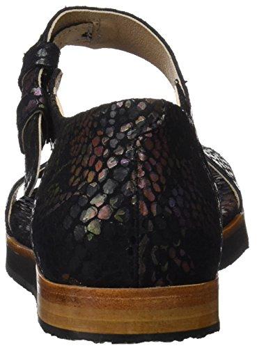 Neosens S505 Fantasy Floral Black Cortese, Sandali con Piattaforma Donna Nero (Floral Black)