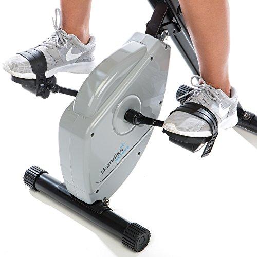 skandika Foldaway X-1000 Lite Fitnessbike Heimtrainer X-bike F-Bike Klappbar mit Handpuls-Sensoren, 8-stufiger Magnetwiderstand, LCD Display max. 110kg Grau/Schwarz - 4