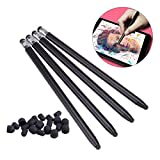 UEETEK 4 Pcs Touch Pen Stylus with 20 Pcs Rubber Tip,Universal High-precision Touch Screen Capacitive Stylus Pen for iPhone iPad Samsung Smartphones Tablets