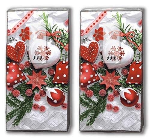 20 Taschentücher (2x 10) Taschentücher Weihnachtsdeko/Winter / Weihnachten