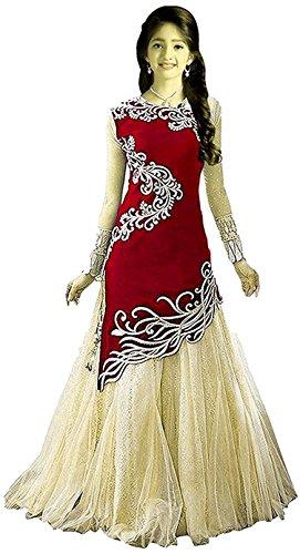 Amiga Girl's Party Wear Net Semi Stitched Free Size Lehenga Choli, Salwar...