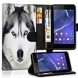 wicostar Wallet Book Style Flip Handy Tasche Case Schutz Hülle Schale Motiv Etui für Huawei Y625 - Variante UMV33 Design1