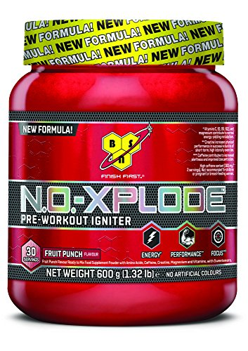BSN N.O.-XPLODE 3.0 Fruit Punch Pre Workout Ignitor – 600 g