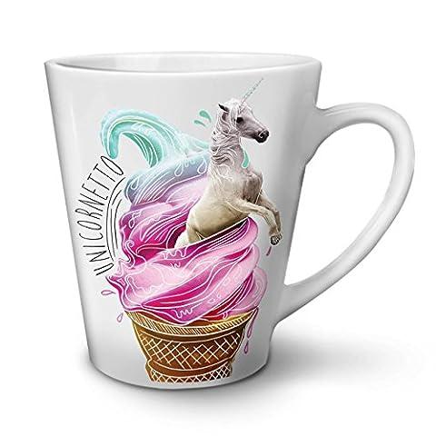 Licorne Crème végétalien Aliments Mythe NOUVEAU Blanc Thé Café Céramique Latté Tasse 12 oz | Wellcoda