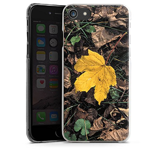 Apple iPhone X Silikon Hülle Case Schutzhülle Ahornblatt Laub Herbst Hard Case transparent