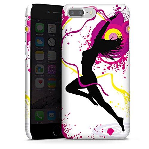 Apple iPhone X Silikon Hülle Case Schutzhülle Frau Tanzen Klecks Premium Case glänzend