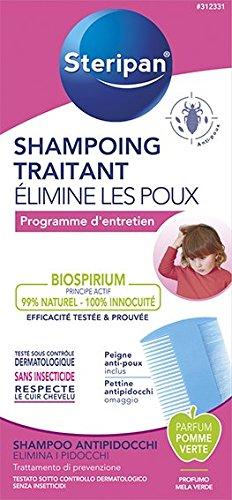 Steripan Shampoing Traitant Anti-Poux 125 ml + Un Peigne Anti-Poux