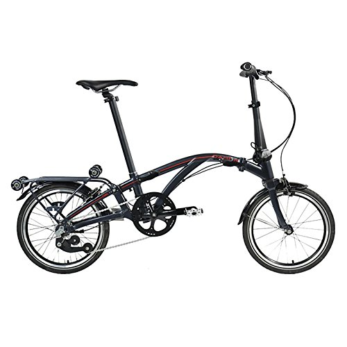 Dahon Faltrad Curl i4 4-Gang 16 Zoll Klapp Fahrrad Silber Anthrazit Uni Cityrad Bike, 9742, Farbe Anthrazit
