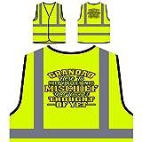 Opa hier, um dir Unfug zu helfen Personalisierte High Visibility Gelbe Sicherheitsjacke Weste u161v