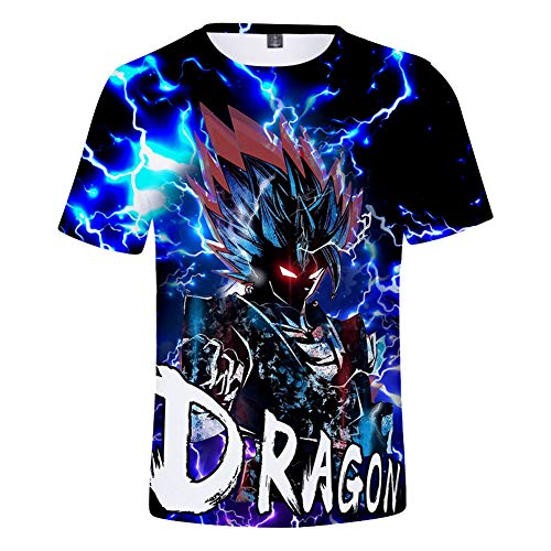 CTOOO T Shirt Stampa Dragon Ball Uomo 2XS-4XL