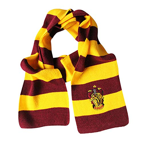 Potter Kostüm Harry Hogwarts - KEKEDA Gestreifter Rugby-Strickschal, gestrickter Harry Potter-Schal Harry Potter-Gryffindor-Patchschal