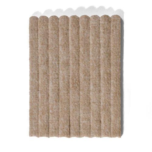 Filzgleiter, Möbelgleiter als Filzstreifen ca. 15 cm x 1,2 cm x 0,5 cm dick, extra strapazierfähiger Filz – 108 Streifen; als Bodenschutz für Möbelfüße, Tischbeine, Stuhlbeine, Stühle - Made in Canada