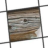 creatisto Sticker-Fliesen | Selbstklebende Fliesenfolie Badezimmerfolie Dekorfolie Badgestaltung | 15x15 cm Design Motiv Hochbejahrt - 1 Stück