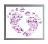 New Baby, A4, Motiv: Mädchen, Aufdruck