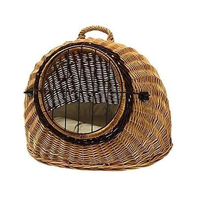 Prestige Wicker Igloo Pet Carrier Basket House