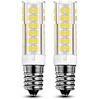 KINDEEP E14 bombilla LED - 7W / 550LM, rosca Edison pequeña (SES), equivalente a bombilla halógena de 60W, Blanco frío 6000K, Pack de 2