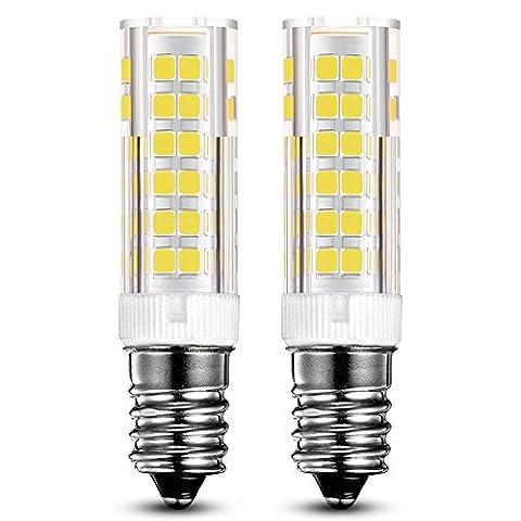 KINDEEP E14 7W Ampoule LED, 550LM ( Equivalent 60W Ampoules halogènes/ Incandescente ) Blanc Froid 6000K, 360° angle de faisceau, 220-240V, Lot de 2