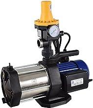 AgoraTec 513003DW - Bomba de extracción de agua (centrífuga de 5 niveles, 5,6 bares y 5400 l/h máx., interruptor de botón con protección de marcha en seco)