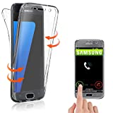 Coque SAMSUNG Galaxy S7 , Housse en Silicone TPU protection 360° Total Avant + Arriere , Anti-Rayures , Anti-Choc , Transparent - E.F.Connection
