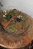 Rostikal Edelrost Schlüssel zum Herz, Deko Hänger aus Metall, 2er Set