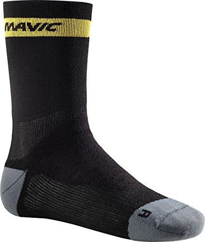 MAVIC Ksyrium Elite Thermo Winter Fahrrad Socken schwarz/grau 2018: Größe: L (43 46) -