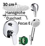 Hansgrohe Unterputz Duscharmaturenset Focus ibox Armatur Duschteller 30 cm