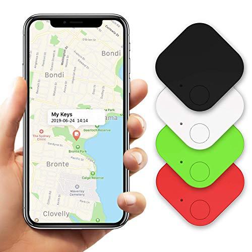 Key finder, phone finders portafoglio finder, bluetooth pet trackers borsa bagaglio tracker anti perso promemoria funziona con android e ios (4 pezzi)