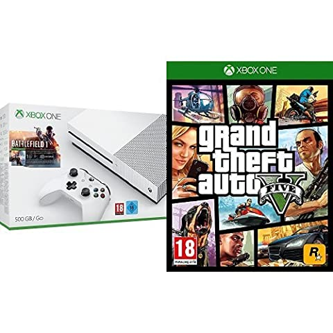 Pack Console Xbox One S 500 Go + Battlefield 1 + GTA V