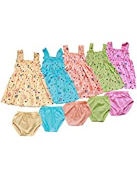 Feel Trendy baby Frock for Girls 3to6 month(pack) of 5)