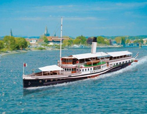 Aue-Verlag - Maqueta de barco a vapor Hohentwiel, 61 x 13 x 23 cm