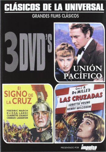 cecil-b-demille-3-dvd-pack-union-pacific-the-sign-of-the-cross-the-crusades-union-pacifico-el-signo-