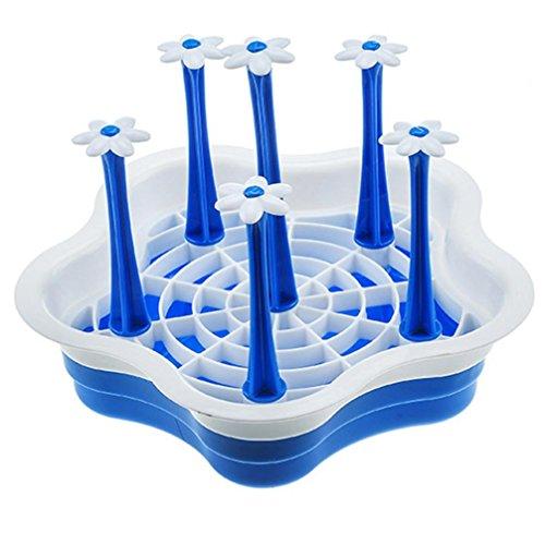 IGEMY Super beliebte Küche abnehmbare Ablaufschale Becher Platte, Speicher Gadget für Tassen Waschbecken Halter Rack Home Tool (Blau) (Speicher-rack Platte)