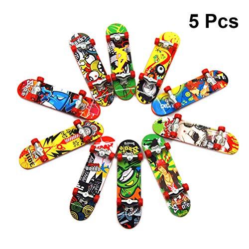 LIOOBO 5 stücke Mini Griffbrett Finger Skateboard Spielzeug Deck Truck Finger Board Kinder Geschenk Zufällige Farbe