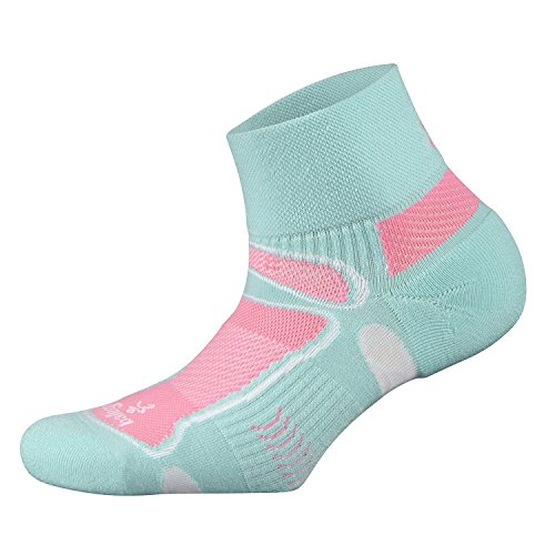 Balega Damen Ultralight Quarter Athletic Running Socken M Aqua - High-performance-knöchel-socken