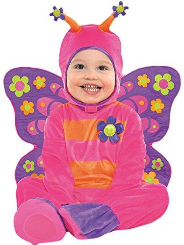 erdbeerloft - Babys Baby Schmetterling Komplett Kostüm Karneval , Pink, Größe 80-86, 12-18 Monate