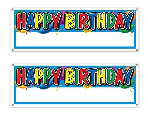 Beistle s50187az2, 2Stück Happy Birthday Sign Banner, 5'x 53,3cm