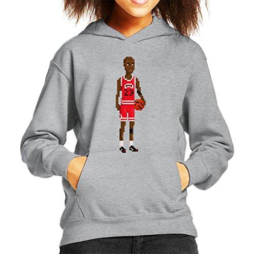 Michael Jordan Body Pixel Kid's Hooded Sweatshirt (Space Jam 11 Kids)