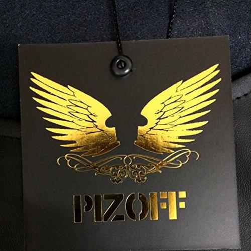 Pizoff Herren Hip Hop Harem Jogginghose aus gestepptem Hochglanz-Jersey Y0710-B